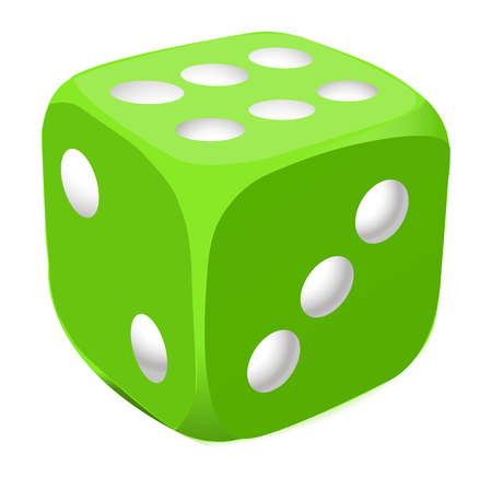 Vector green dice Illustration