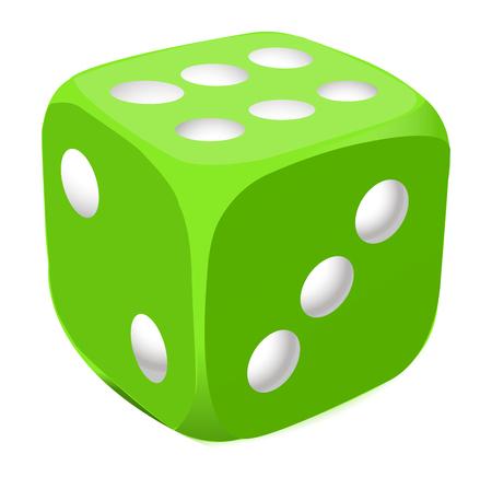 Vector green dice Stock Vector - 26057040