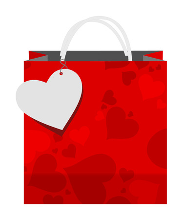 valentines shopping bag Vector