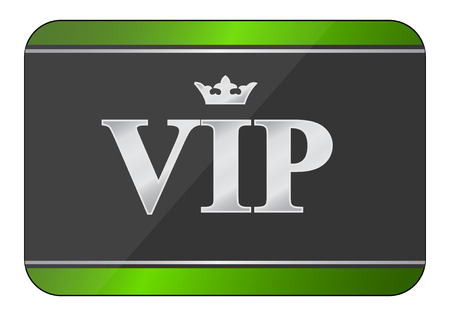 icono de la tarjeta vip Ilustración de vector