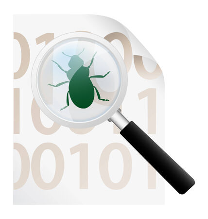 virus scan icon Vector