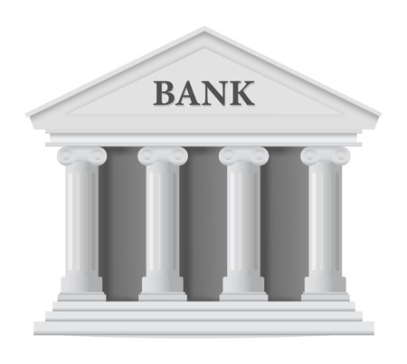white bank building icon Vector
