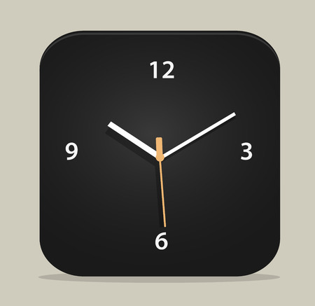 Illustration  clock icon Vector