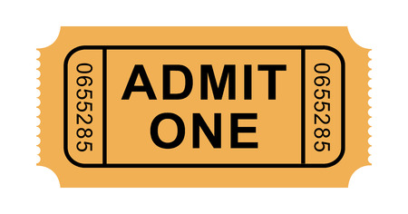 old movies: Illustration of Admission Ticket
