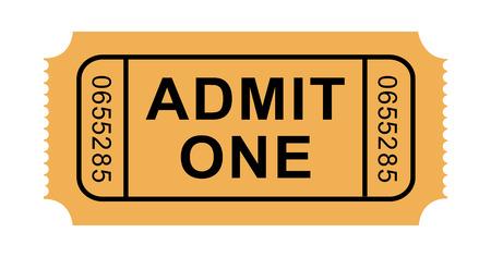 Ilustración del boleto de la admisión Foto de archivo - 26309046