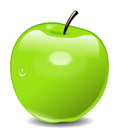 Illustration Green Apple Vector