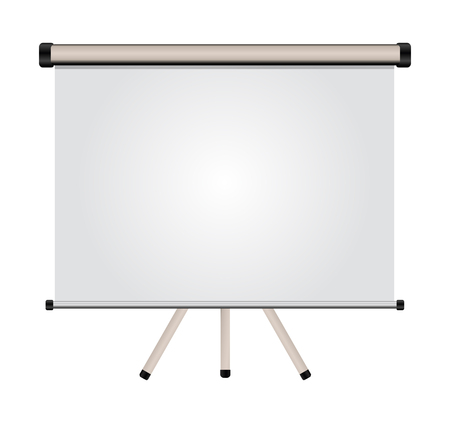 projection screen: blank projection screen