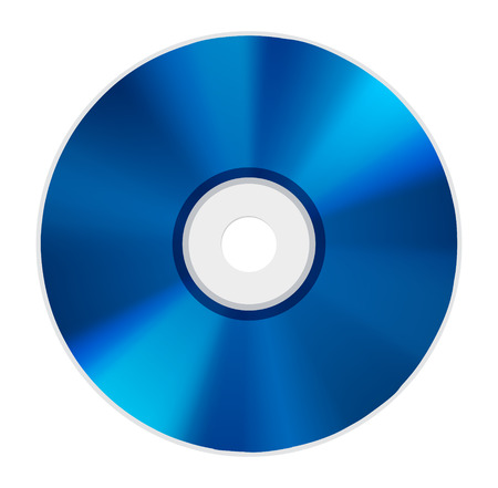 blue ray disc icon Vectores