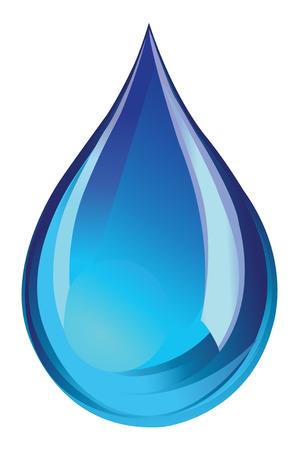Groen water druppel icoon