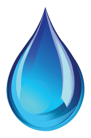 L'eau verte icône de gouttelettes Banque d'images - 26309176