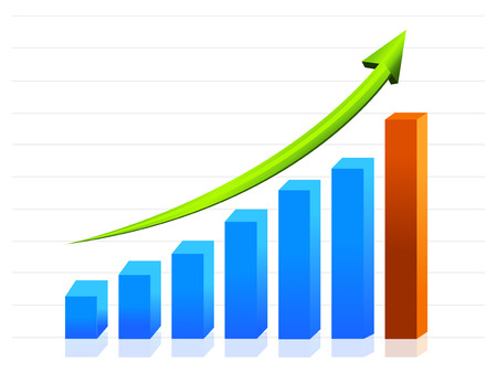 business growth graph Vector