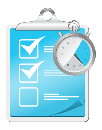 check list icon with stopwatch Vector