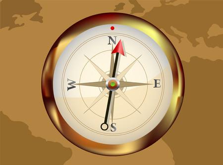 silver Vector Compass Vector