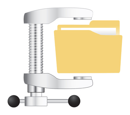 Vector illustration of  computer zip folder icon Vector