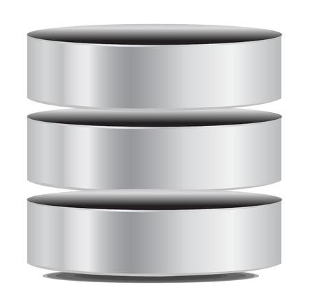 Vektor-Database Icon Standard-Bild - 26309417