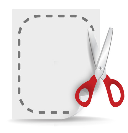 cut document icon Vector