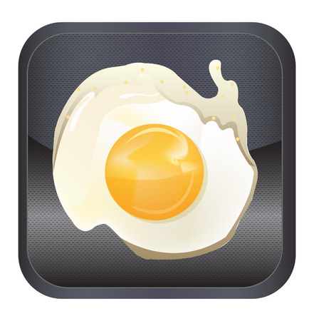 Fried egg app icon Vector