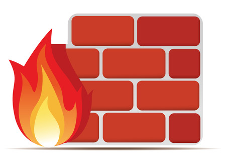 firewall icon Illustration