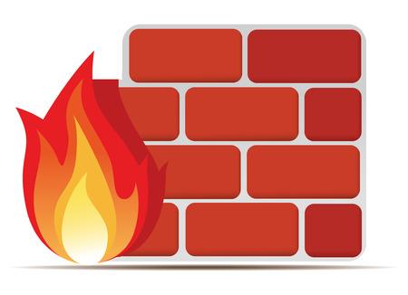 firewall-pictogram Stock Illustratie