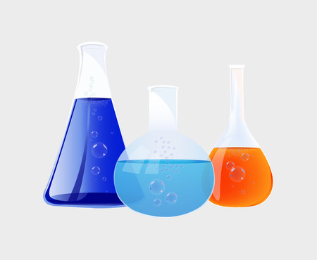 Illustration  Flasks Vector
