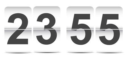flip clock template Vector