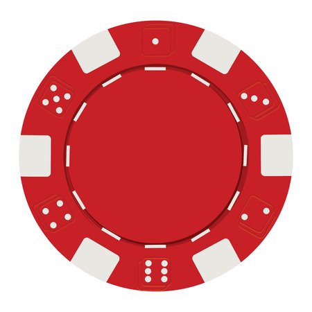 chip set: single green casino chip isolated on white