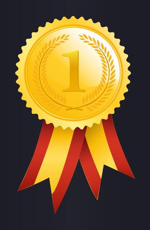 Number One winner ribbon Illustration