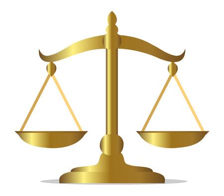 balanza en equilibrio: Balanza Ilustración