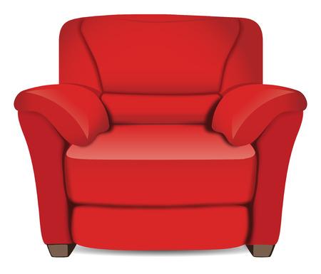 leather armchair Vector