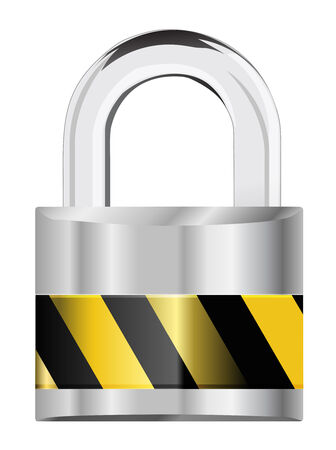 silver padlock security icon Vector