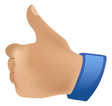 duimen pictogram up down Stock Illustratie