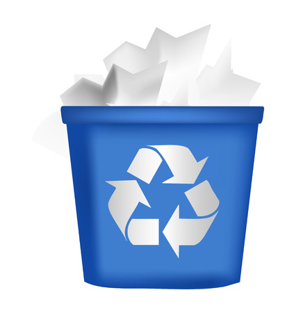 recycling bin icon Illustration