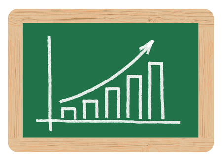 rising bar graphs Vector
