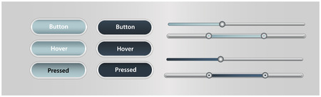 soft buttons sliders Vector