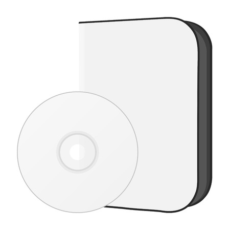 software box with disc Vector