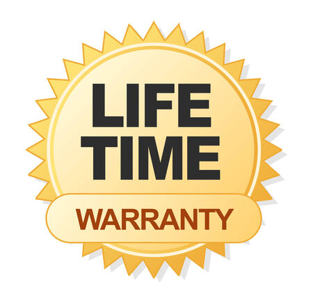 warranty label template Vector