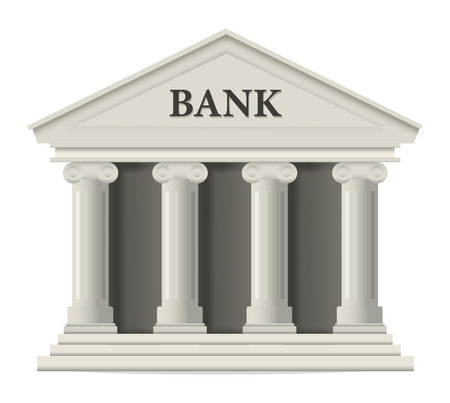 흰색 은행 건물 아이콘