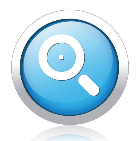 a round of inspection: Vector Glass Magnifier Icon