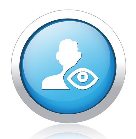 oogcontact icoon Stock Illustratie