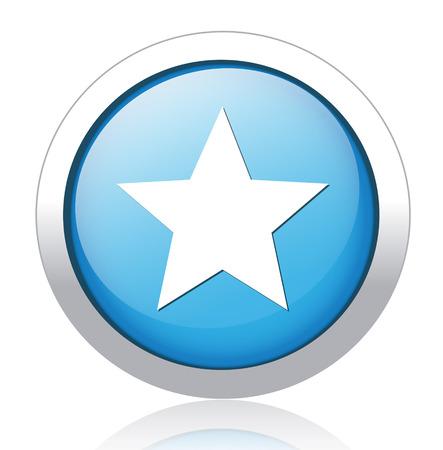 Star favorite web icon Vector