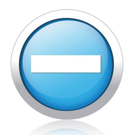 hyphen: segno segno meno sul pulsante Vettoriali