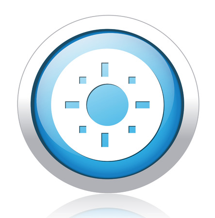 target icon blue glass Vector