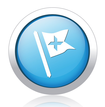 Waving Flag Icon Vector