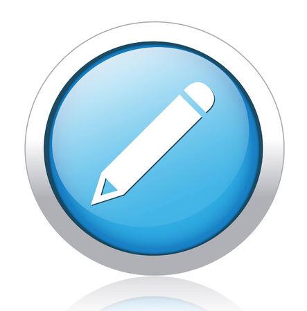 pencil button Stock Vector - 26700178