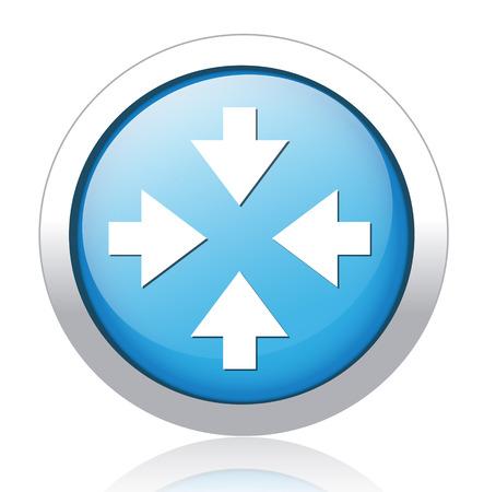 satin round: four arrows button