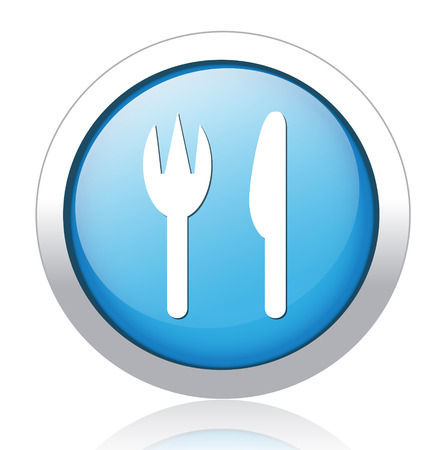 restaurant button Vector