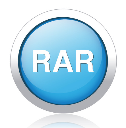Rar file icon vector Vector