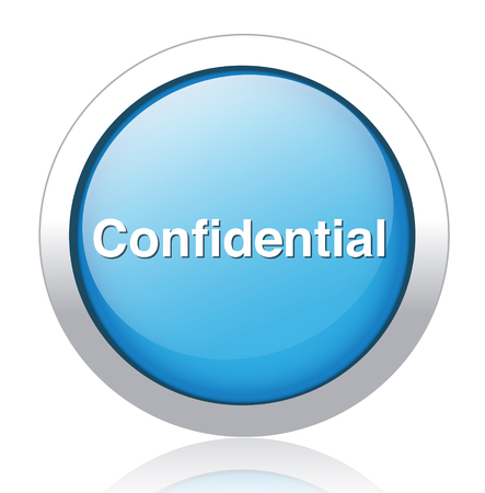 confidential top secret classified private information  button Stock Vector - 26699679