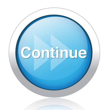 continue button Illustration