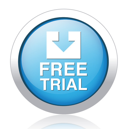 Free trial blue button Vector